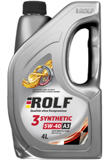 Motor oil ROLF 3-SYNTHETIC 5W-40